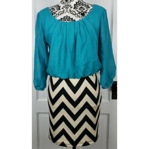 AS U Wish Chevron Print Dress